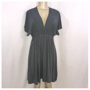Mossimo Gray V Neck Dress Juniors Large